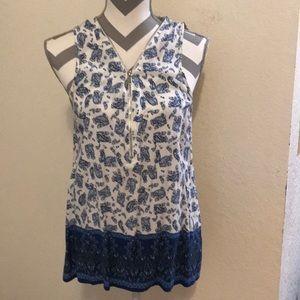 L print blouse